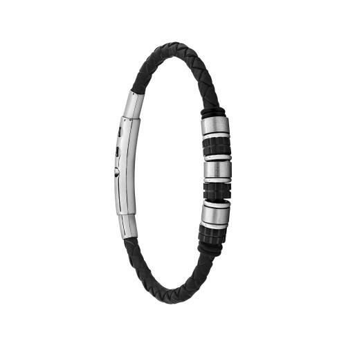 Pulseira Aço Rollers Steel Black 5mm