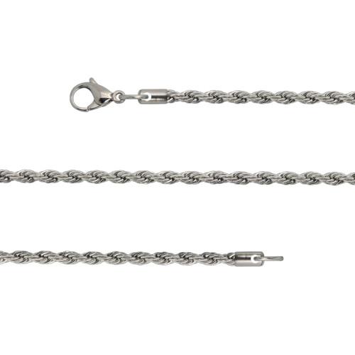 Corrente Aço Corda Diamantada 2mm 45cm