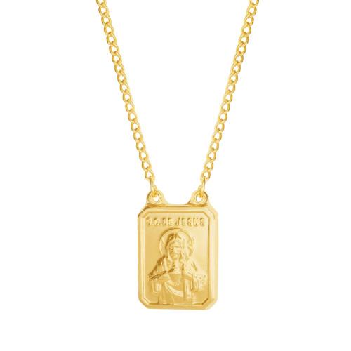 Escapulário Aço S. C. Jesus e NSra. Carmo Gold IPG