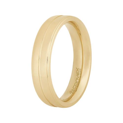 Aliança de Namoro Delicata 5mm Gold IPG