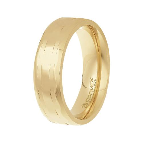 Aliança de Namoro Lohan 6.50mm Gold IPG