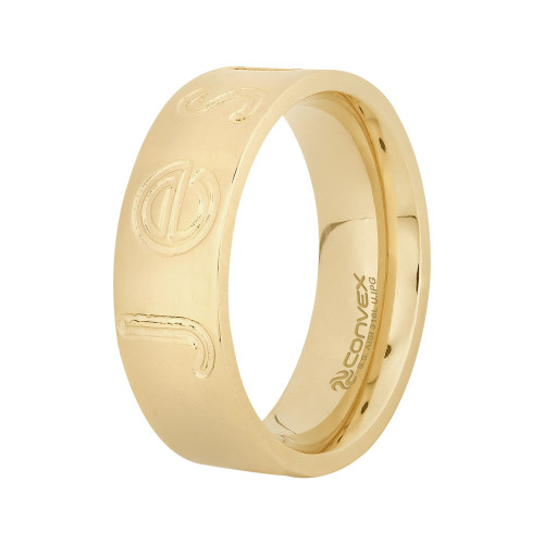 Anel Jesus 7mm Gold IPG