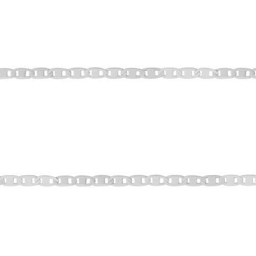 Corrente Prata Piastrini 2.35mm 70cm