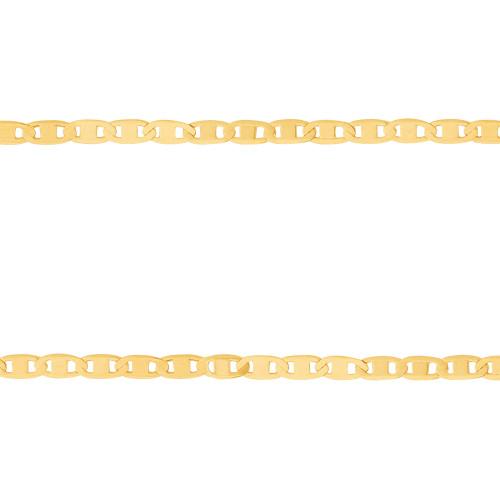Corrente Prata c/ Ouro 18K Piastrini 2.35mm 70cm