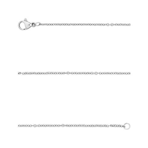 Corrente Aço Cartier Elos Ovais 1.50mm 60cm