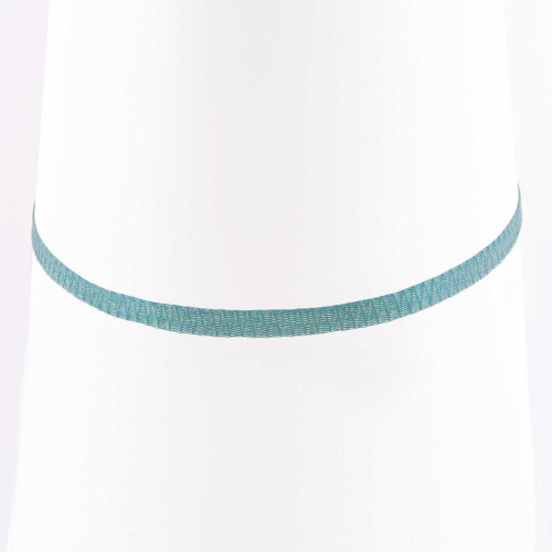 Colar Choker Malha Metalizada Alemã Azul 45cm.