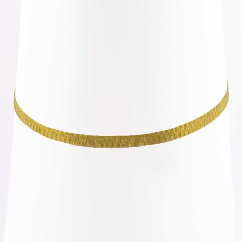 Colar Choker Malha Metalizada Alemã Dourada 36cm.