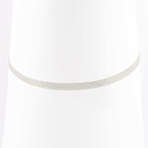 Colar Choker Malha Metalizada Alemã Branca 45cm.