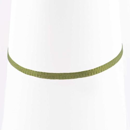Colar Choker Malha Metalizada Alemã Verde 45cm.