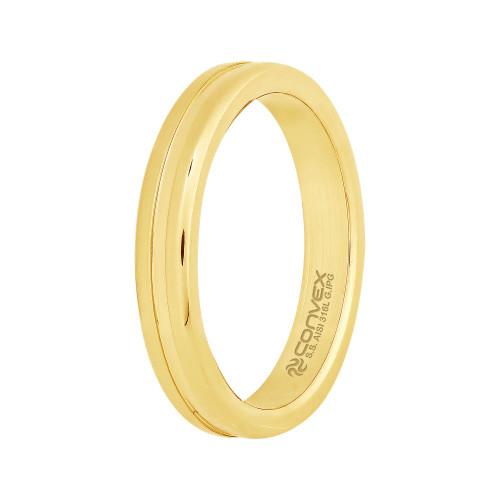 Aliança de Namoro Aton *Deus do Sol 3.45mm Gold IPG