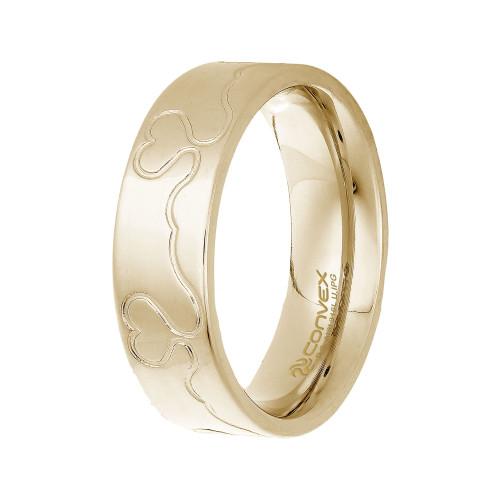 Aliança de Namoro Infinity Love 6.50mm Gold IPG