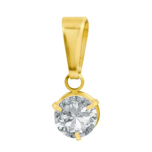 Pingente Aço Ponto de Luz 5mm Gold IPG
