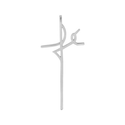 Pingente Aço Simbolo Fé 20x12mm