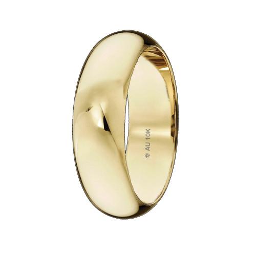 Aliançade Casamento Ouro 10KTradicional Abaulada L7mm E2mm