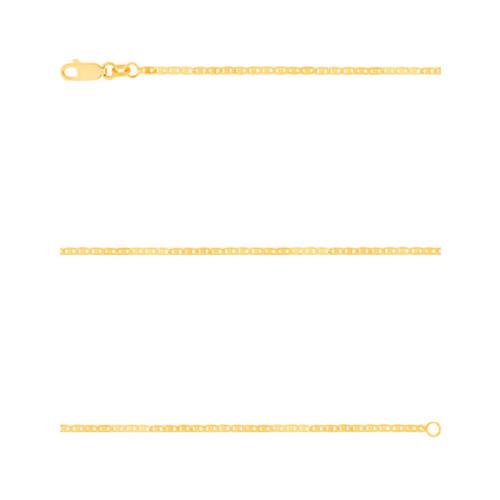 Corrente Prata c/ Ouro 18K Piastrini 1.60mm 60cm