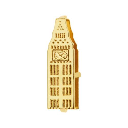 Pingente Aço Hit Big Ben 11.5mm Gold IPG