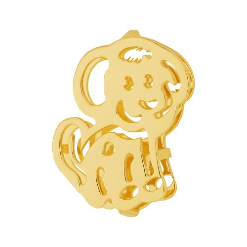 Pingente Aço Hit Cão 16.5mm Gold IPG